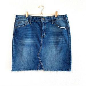 Universal Thread Denim Cutoff Skirt